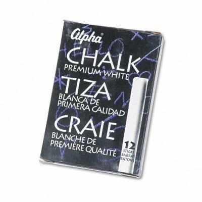 Quartet® Alpha Nontoxic Low Dust Chalk, 12 Sticks/Pack