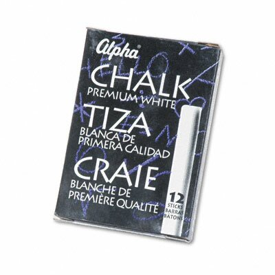 Quartet® Alpha Nontoxic Low Dust Chalk, 12 Sticks/Pack