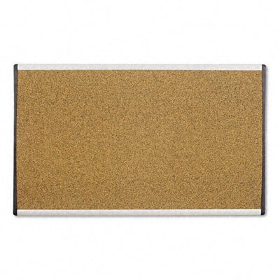 Quartet® Cubicle Arc Frame Colored Cork Board with Tan with Aluminum Frame