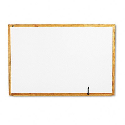Quartet® Standard Dry-Erase Board in White Oak with Oak-Finished Wood Frame