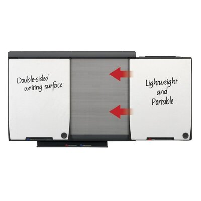"Quartet® Conference System, W/Portable Panels, 43-2/3""x61-2/3""x4-1/3"""