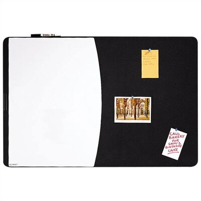 Quartet® Tack & Write Combo Dry-Erase and Marker Board in Black and White