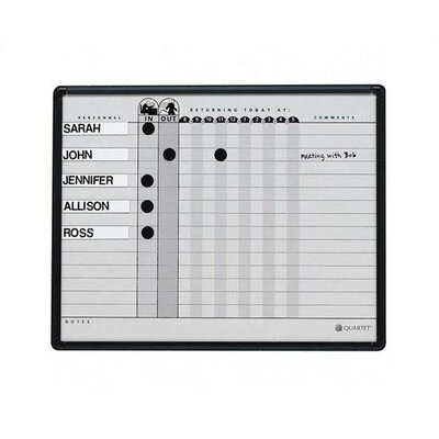 Quartet® Magnetic Employee In/Out Board, Porcelain