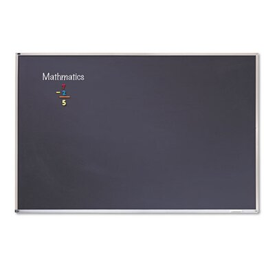 Quartet® Enclosed Fabric Covered Cork Bulletin Board in Gray with Aluminum Frame