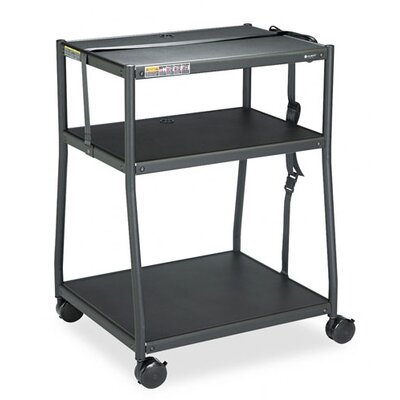 Quartet® Wide Body AV Cart in Black