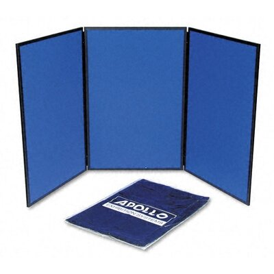 Quartet® ShowIt Three-Panel Display System with Black PVC Frame