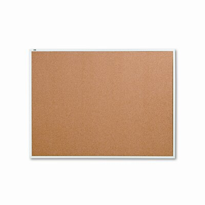 Quartet® Cork Bulletin Board with Aluminum Frame (Set of 48)