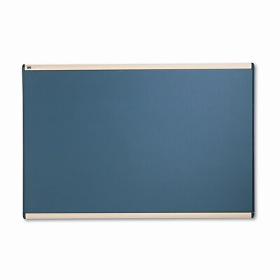 Quartet® Prestige Bulletin Board, Diamond Mesh Fabric, 72 x 48, Gray/Maple Frame