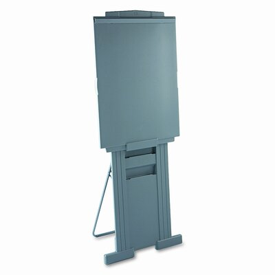 "Quartet® Duramax Portable Presentation Easel, 72"" High, Plastic, Gray"