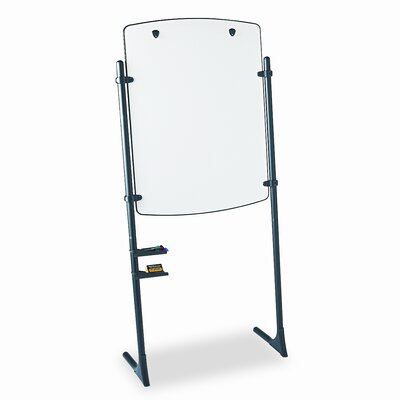 Quartet® Total Erase Presentation Dry Erase Easel, 31 x 41, White, Black Steel Frame