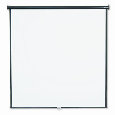 Quartet® Wall or Ceiling Projection Screen, 84 x 84, White Matte, Black Matte Casing