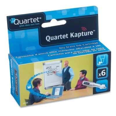 Quartet® Refill Cartridges, Low-Odor, 6/PK, Black