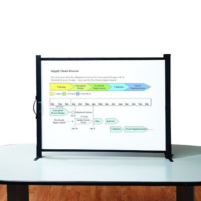 "Quartet® Portable Tabletop Projection Screens, w /Carrying Case, 40"" or 50"""