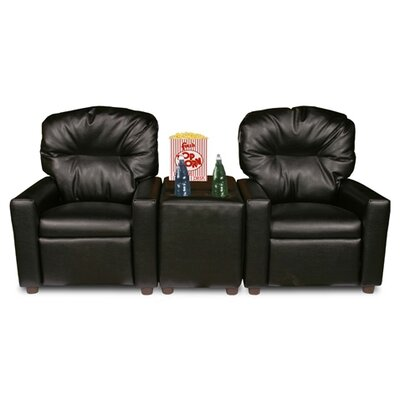 Dozy Dotes Theater Seating Leather Kid's Recliner Chair