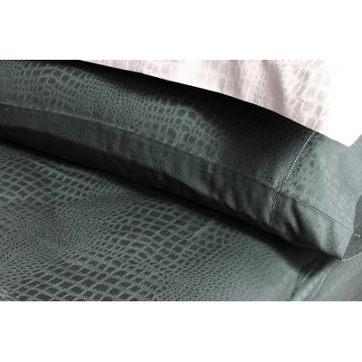 Plush Living Caiman Pillow Case Set in Jet Set Black
