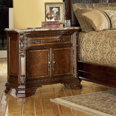 Old World 1 Drawer Nightstand