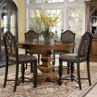 Counter Height Round Dining Set : Marbella 5 Piece Counter Height Dining Set Wayfair