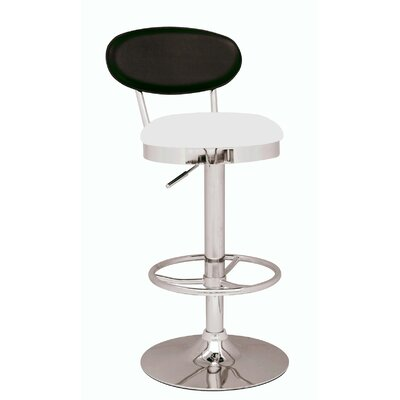 "Chintaly Imports 25"" Adjustable Swivel Bar Stool with Cushion"