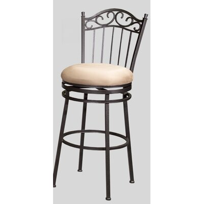 "Chintaly Imports 26"" Memory Swivel Counter Stool with Windsor Back"
