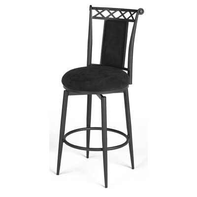 "Chintaly Imports 26"" Swivel Memory Return Counter Stool in Black"