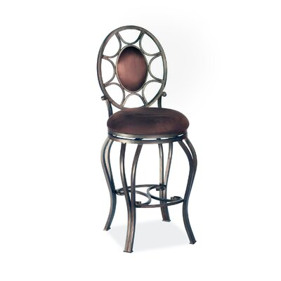 "Chintaly Imports 26"" Swivel Memory Return Counter Stool with Oval Back"