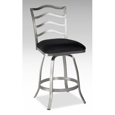 "Chintaly Imports 26"" Swivel Memory Return Counter Stool with Ladder Back"