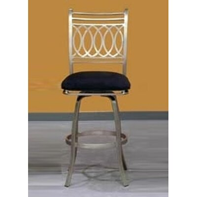 Chintaly Imports Julia Swivel Bar Stool with Cushion