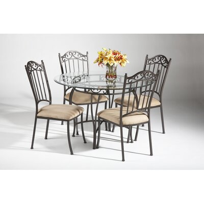 Chintaly Imports Glass 5 Piece Dining Set