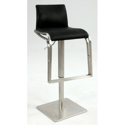 Chintaly Imports Adjustable Height Stool with Upholstered Back Rest