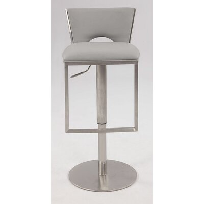 Chintaly Low Back Adjustable Height Stool