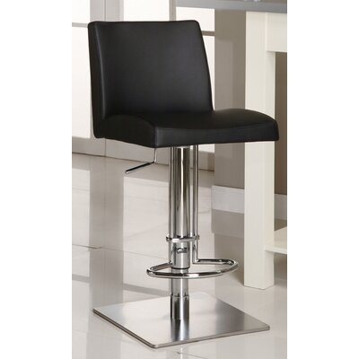 Chintaly Imports Adjustable Causal Swivel Stool in Black