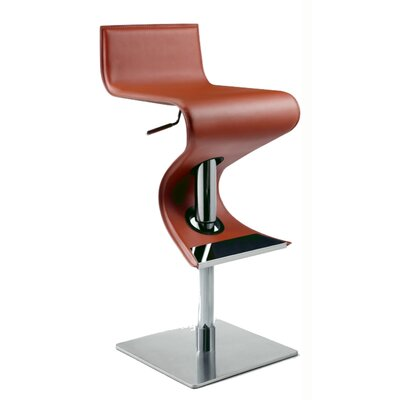 Chintaly Adjustable Swivel Stool in Rust