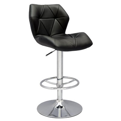 Chintaly Pneumatic Gas Adjustable Swivel Bar Stool with Cushion