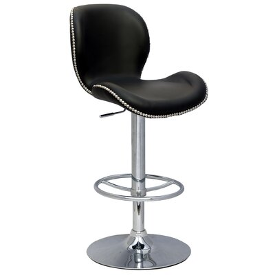 Chintaly Imports Pneumatic Gas Adjustable Swivel Bar Stool
