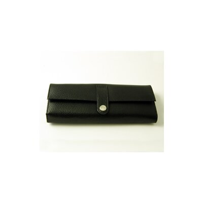 On the Go Pebble Grain Jewel Roll in Black
