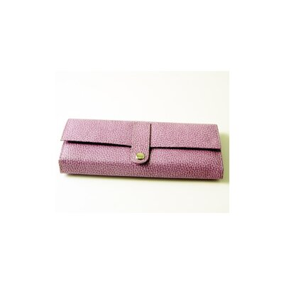 Budd Leather On the Go Pebble Grain Jewel Roll in Purple