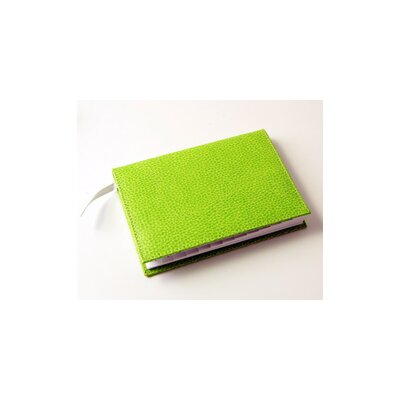 Budd Leather On the Go Pebble Grain Medium Address Book in Lime