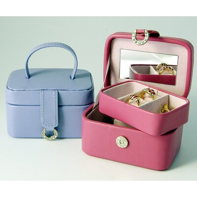 Budd Leather Bold and Spring Ladies Petite Rectangular Jewelry Box in Pink