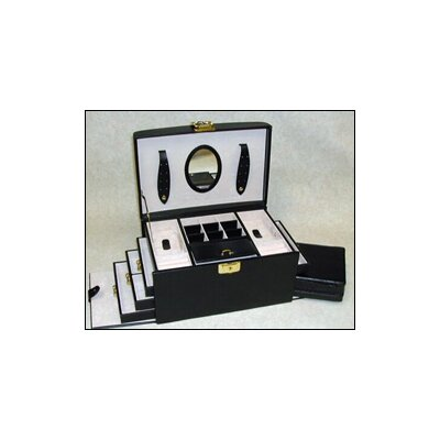Budd Leather Ladies Classic Jewelry Box in Black