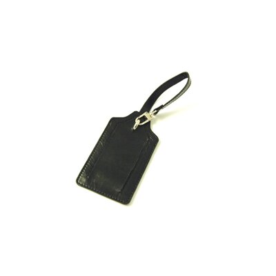 Budd Leather Distressed Leather Luggage Tag
