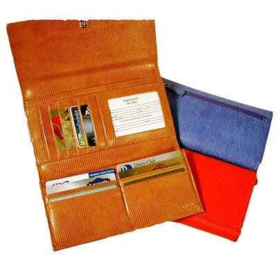 Budd Leather Continental Tri Fold Clutch Wallet