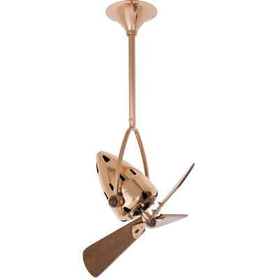 Matthews Fan Company Jarold 3 Wooden Blade Outdoor Ceiling Fan