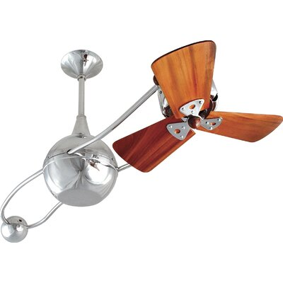"Matthews Fan Company 40"" Brisa 2000 3 Wooden Blade Rotational Outdoor Ceiling Fan"