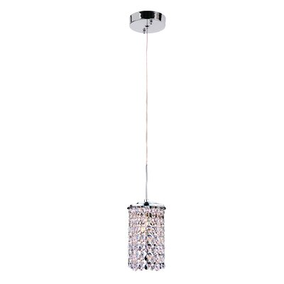 TransGlobe Lighting Contemporary 1 Light Drum Pendant