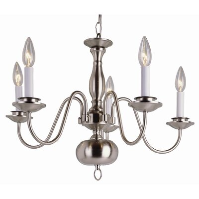TransGlobe Lighting Back To Basics 5 Light Williamsburg Chandelier