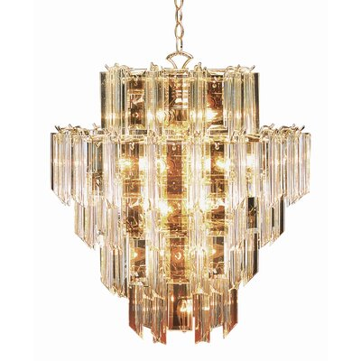 TransGlobe Lighting Back To Basics 16 Light Acrylic Chandelier