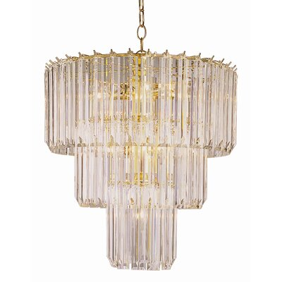 Back To Basics 9 Light Acrylic Chandelier