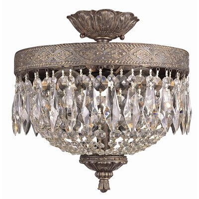 TransGlobe Lighting Semi Flush Mount