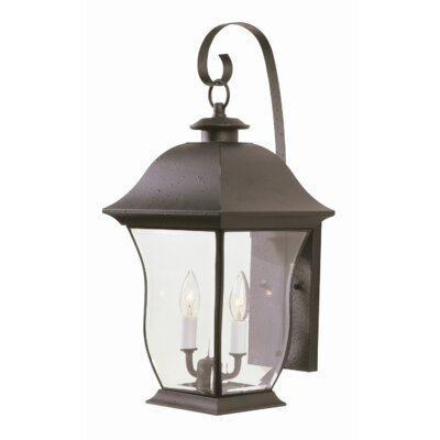 TransGlobe Lighting  Outdoor Wall Lantern in Black