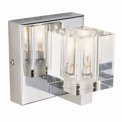 TransGlobe Lighting  Crystal Wall Sconce in Polished Chrome